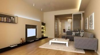 Moderno espacio peque o c lido living 3d model download for Living pequeno moderno