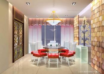 Moderno comedor brillante y c lida sala 3d model download for Modelos de sala comedor