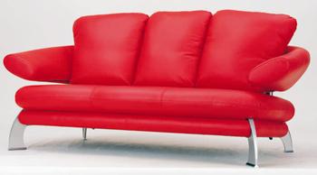 Estilo europeo moderno rojo tres asientos sof 3d model for Muebles modernos estilo europeo
