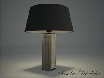 L mpara de mesa modelos 3d de textura de metal oscuro 3d for Lamparas decorativas de mesa