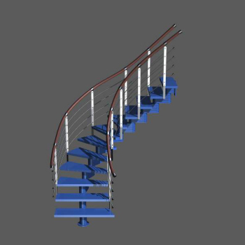 3d escalera de moda azules 3d model download free 3d for Escaleras 3d max