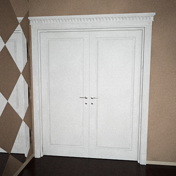 Modernos de doble puerta de modelos 3d 3d model download for Modelos de puertas para dormitorios modernas