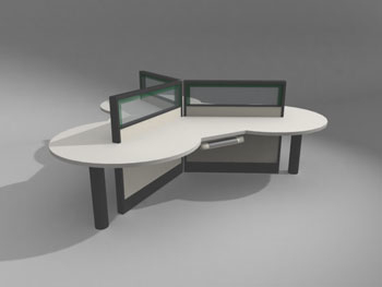 Oficinas moderno modelo de escritorio 3d model download for Muebles de oficina 3d max