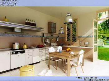 Luminoso restaurante de cocina modelo 3d 3d model download for Modelos de cocina comedor pequenas