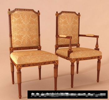 Lujo Europeo Silla De Madera Modelo 3d 3d Model Download