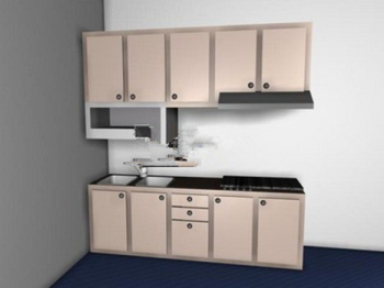 Gabinetes de cocina modelo 3d 3d model download free 3d for Cocinas en 3d gratis