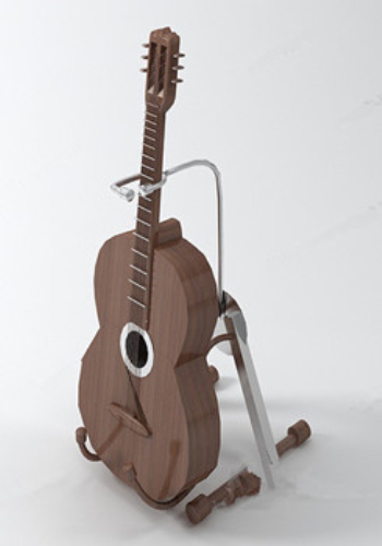 Brown guitarra modelo 3d