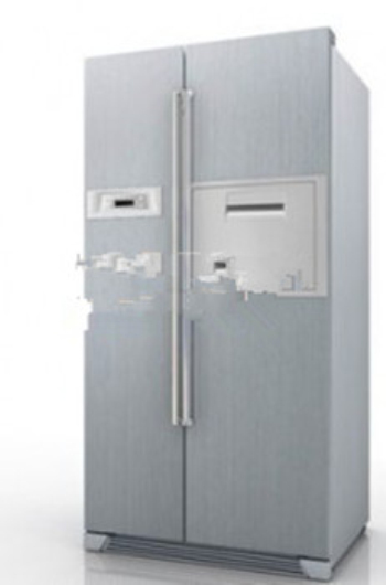 3d modelo de refrigerador de dos puertas 3d model download free 3d models download - Nevera congelador dos puertas ...