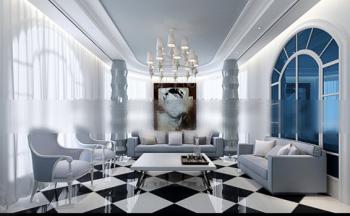 Modelo de la sala de estar de estilo mediterr neo 3d for Sala de estar estilo mediterraneo