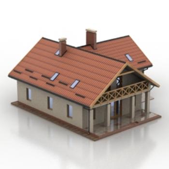 Modelos de villas peque as ordinarias 3d model download for Villas pequenas