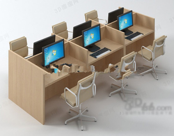 Escritorio de oficina 3d modelo 3d model download free 3d for Muebles de oficina 3d model