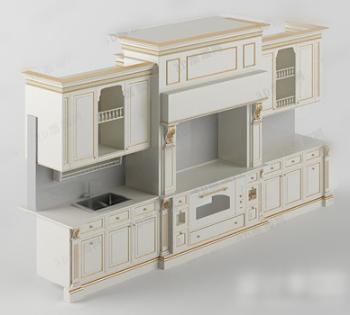 Modelo 3d de los gabinetes de estilo europeo 3d model for Muebles modernos estilo europeo