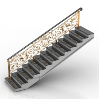 Escaleras continental 3d model download free 3d models for Escaleras 3d max