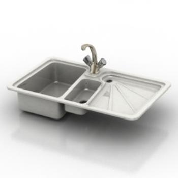 Modelo de fregadero de la cocina 3d model download free 3d - Modelos de fregaderos ...