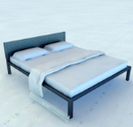 Simple modelo 3d cama doble
