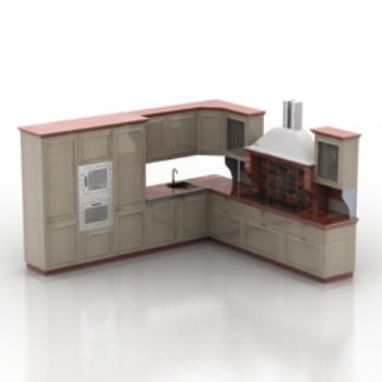 Modelo gabinetes de estilo europeo 3d model download free for Muebles modernos estilo europeo