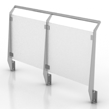Modelo de valla de cristal al aire libre 3d model download - Vallas de cristal ...
