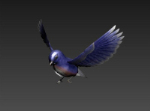 Purple Bird Modelo 3D
