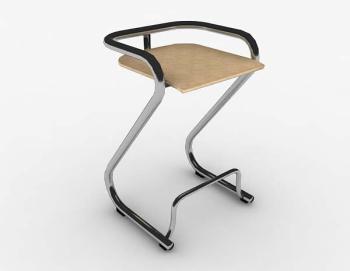 Moderna silla de metal simple sillas 3d modelo 3d model for Modelos de sillas de metal