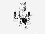European Black chandelier modelo 3D