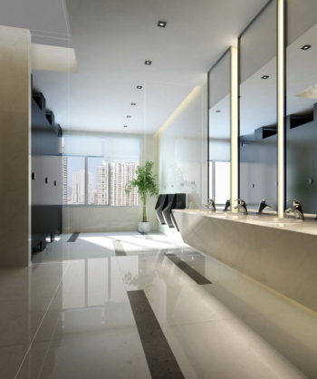 modelo atmosf¨¦rico simple baño blanco 3D