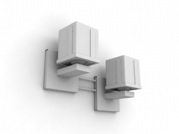 Combinaci¨®n de luces de pared 3d Modelo