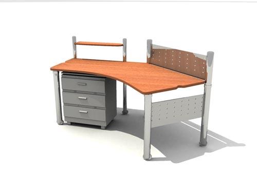 Muebles de oficina la ltima en 2007 41 3d model for Muebles para oficina 3d max