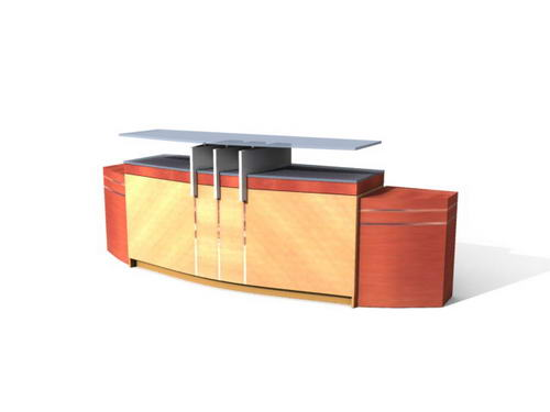 Muebles de oficina escritorios 24 3d model download free for Muebles de oficina 3d model