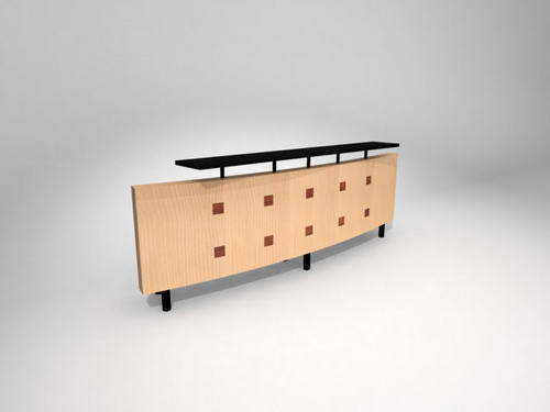 Muebles de oficina escritorios 24 3d model download free for Muebles de oficina 3d max