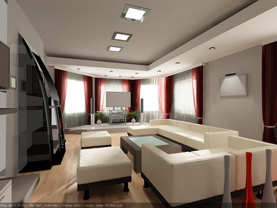 Espacio interior 032 salones 3d model download free 3d for Muebles de oficina 3d max