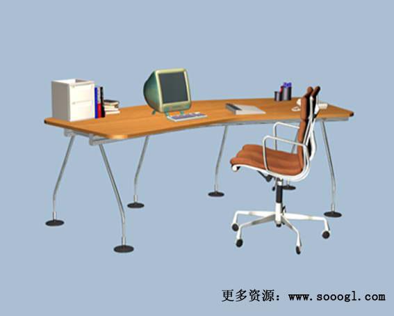 Mobiliario de oficina 013 130 3d model download free 3d for Muebles de oficina 3d model