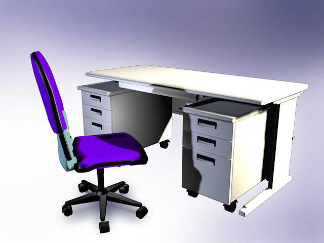 Mobiliario de oficina 010 50 3d model download free 3d for Muebles de oficina 3d model