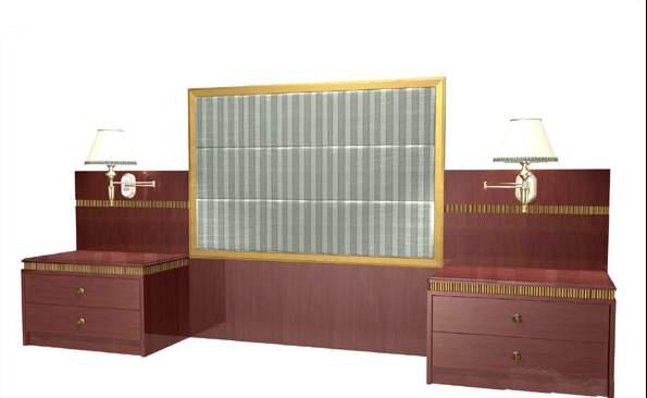 Mobiliario hotel habitaciones mobiliario 18 3d model for Habitaciones 3d gratis