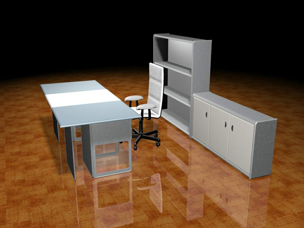 Muebles Oficina 3d Gratis Of Mobiliario De Oficina 004 Oficina De Cartera 59 3d