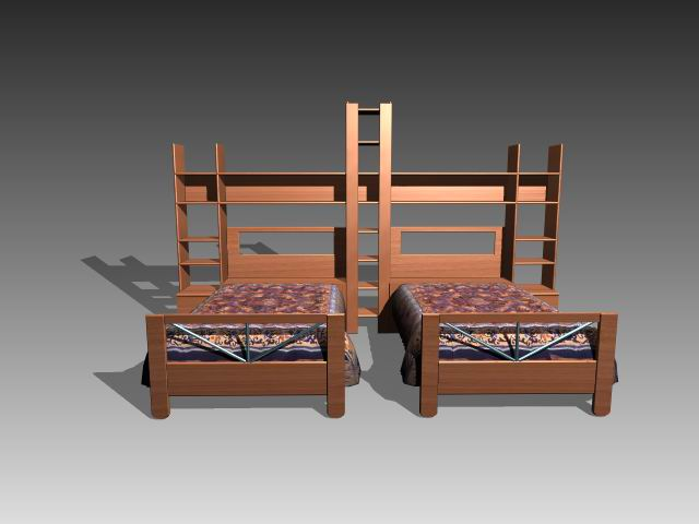 Muebles camas a022 3d model download free 3d models download for Muebles 3d gratis