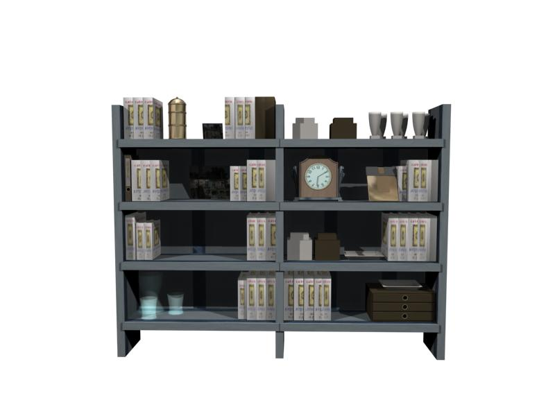 Muebles armarios 011 libros 3d model download free 3d for Muebles de oficina 3d model